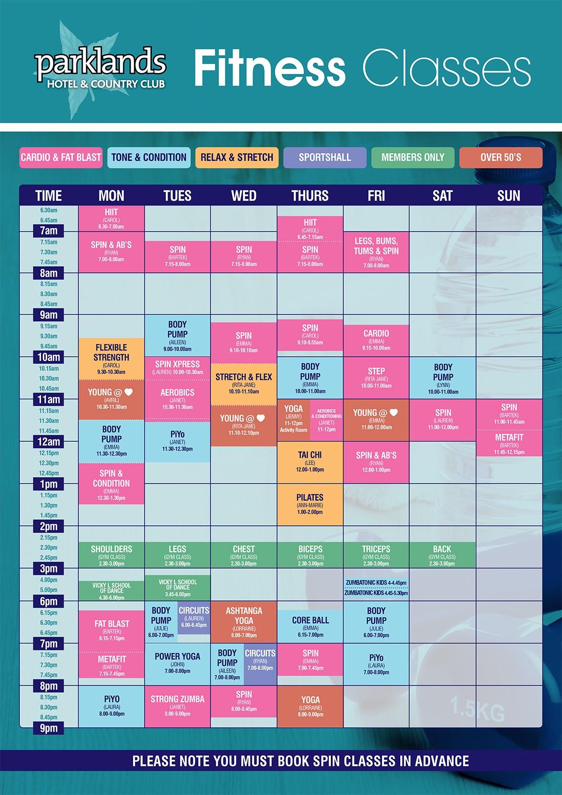 Parklands Fitness Timetable A1 2016[1]